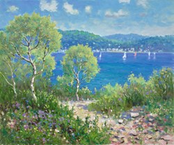 Ibiza by James Preston - Original Painting on Stretched Canvas sized 24x20 inches. Available from Whitewall Galleries